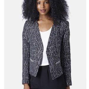 Topshop Moto Tweed Blazer Jacket